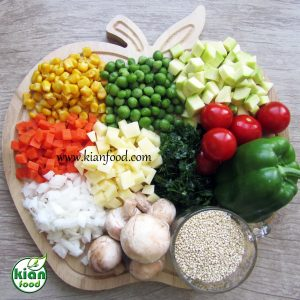 سوپ سبزیجات با کینوا