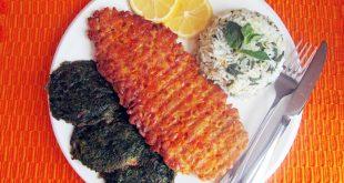 سبزی پلو با ماهی گیاهی