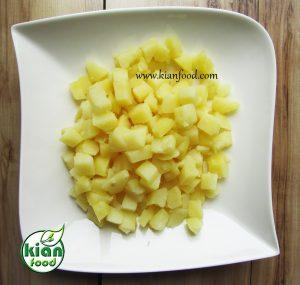 سالاد سیب زمینی و کینوا