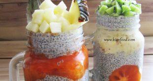طرز تهیه پودینگ چیا میوه ای