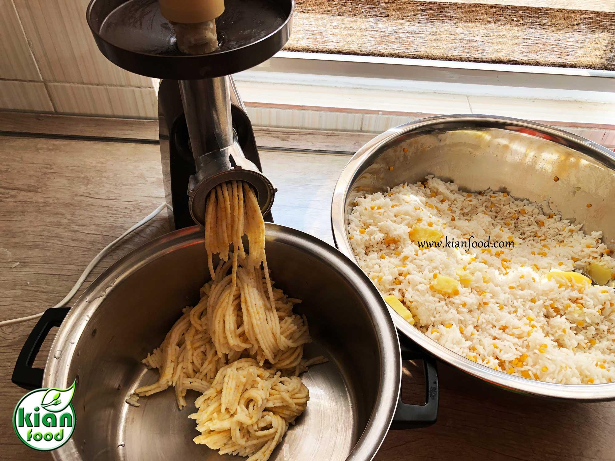 طرز تهیه کوفته برنجی سوخاری پنیری