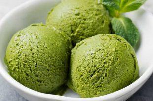 بستنی ماچا با موز