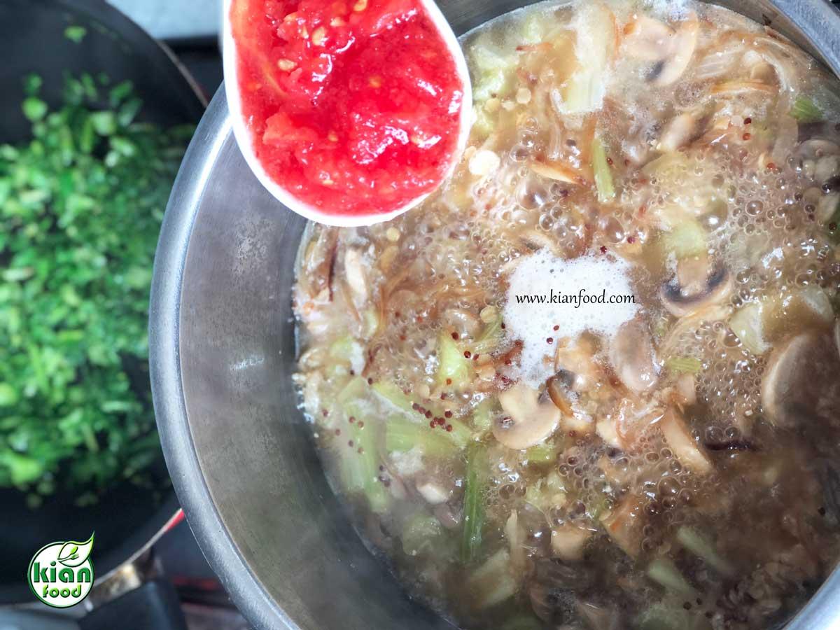 طرز تهیه خورش کرفس گیاهی