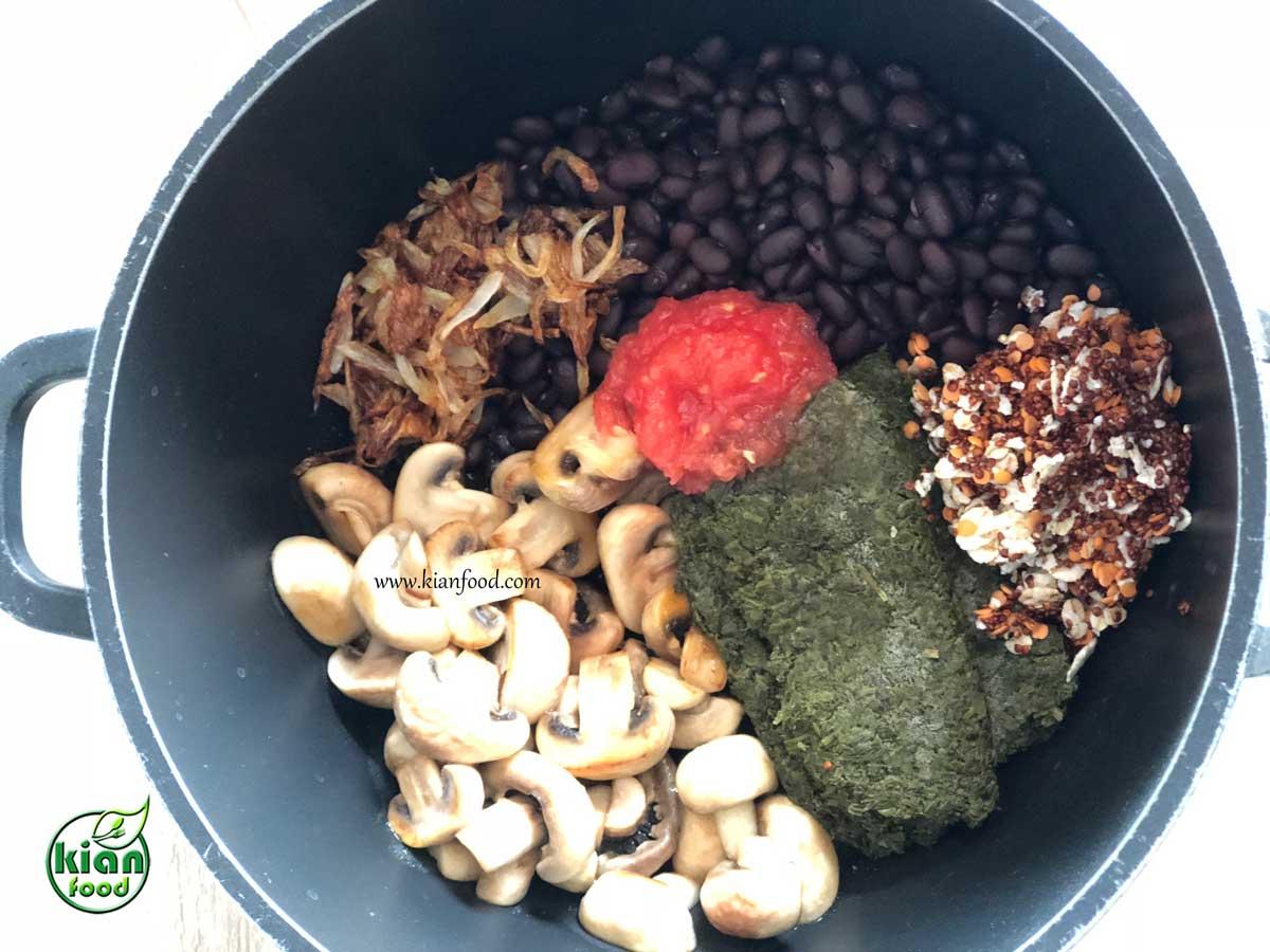 طرز تهیه خورش قورمه سبزی گیاهی