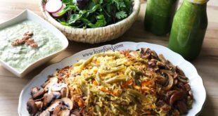 طرز تهیه لوبیا پلو بدون گوشت