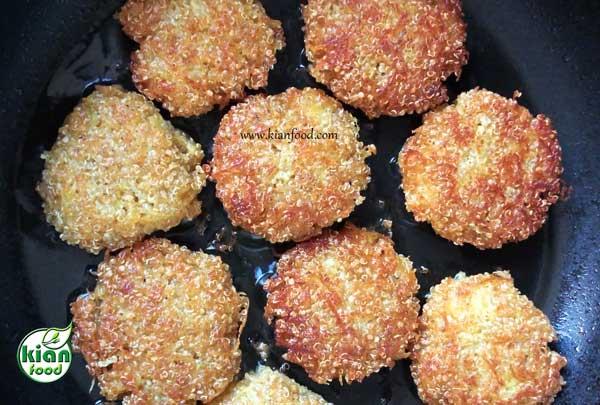 طرز تهیه کتلت بدون گوشت و تخم مرغ